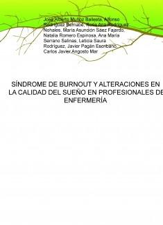SÍNDROME DE BURNOUT Y ALTERACIONES EN LA CALIDAD DEL SUEÑO EN PROFESIONALES DE ENFERMERÍA