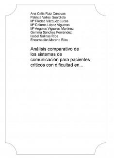 Análisis comparativo de los sistemas de comunicación para pacientes críticos con dificultad en la expresión