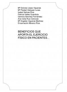 BENEFICIOS QUE APORTA EL EJERCICIO FÍSICO EN PACIENTES DIAGNOSTICADOS DE FIBROMIALGIA.