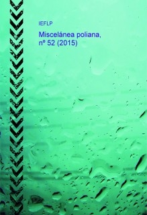 Miscelánea poliana, nº 52 (2015)