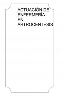 ACTUACIÓN DE ENFERMERÍA EN ARTROCENTESIS