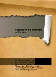 Necesidad de la enfermera escolar en España