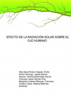 EFECTO DE LA RADIACIÓN SOLAR SOBRE EL OJO HUMANO