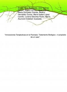 """""""Innovaciones Terapéuticas en la Psoriasis: Tratamiento Biológico – A propósito de un caso"""""""