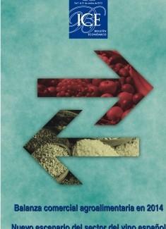 Boletín Económico. Información Comercial Española (ICE). Núm. 3068             Balanza comercial agroalimentaria en 2014