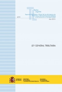 "TEXTO LEGAL Nº 9/2015 ""LEY GENERAL TRIBUTARIA"" (Actualización septiembre 2015)"
