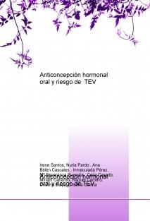 Anticoncepción hormonal oral y riesgo de TEV