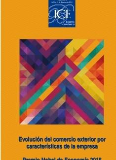Boletín Económico. Información Comercial Española (ICE). Núm. 3070 Evolución del comercio exterior por características de la empresa