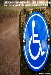Gestión de recursos laborales, formativos y análisis de puestos de trabajo para la inserción sociolaboral de personas con discapacidad. MF1034
