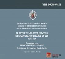 El autor y el proceso creativo cinematográfico español en los noventa