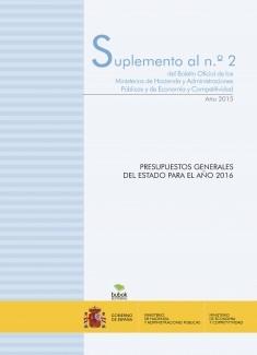 """SUPLEMENTO Nº 2 """"PRESUPUESTOS GENERALES DEL ESTADO PARA EL AÑO 2016"""""""