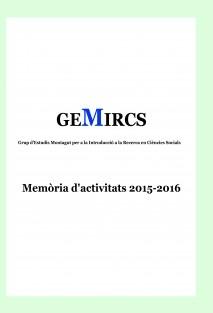 GEMIRCS. Memòria d'Activitats 2015-2016