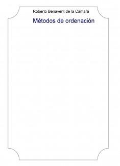 Métodos de ordenación