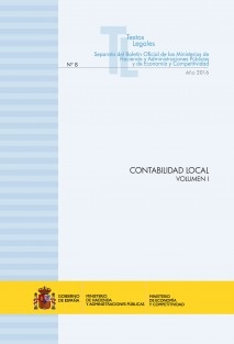 "TEXTO LEGAL Nº 8/2016 ""CONTABILIDAD LOCAL"" (Actualización junio 2016) VOLUMEN I"