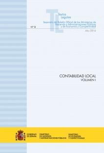 """TEXTO LEGAL Nº 8/2016 """"CONTABILIDAD LOCAL"""" (Actualización junio 2016) VOLUMEN I"""