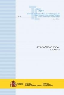 """TEXTO LEGAL Nº 8/2016 """"CONTABILIDAD LOCAL"""" (Actualización junio 2016) VOLUMEN II"""