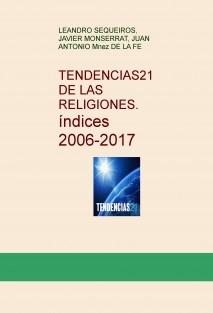 TENDENCIAS21 DE LAS RELIGIONES. Indices 2006-2017
