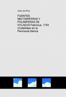 FUENTES NECTARÍFERAS Y POLINÍFERAS DE HYLAEUS Fabricius, 1793 (Colletidae) en la Península Ibérica