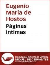 Libro Páginas íntimas, autor Biblioteca Miguel de Cervantes