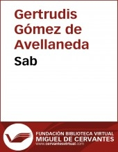 Libro Sab, autor Biblioteca Miguel de Cervantes