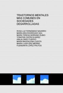 TRASTORNOS MENTALES MÁS COMUNES EN SOCIEDADES DESARROLLADAS