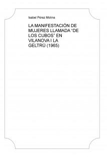 """LA MANIFESTACIÓN DE MUJERES LLAMADA """"DE LOS CUBOS"""" EN VILANOVA I LA GELTRÚ (1965)"""
