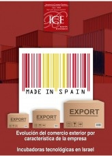 Boletín Económico. Información Comercial Española (ICE). Núm. 3085. Evolución del comercio exterior por característica de la empresa. Incubadoras tecnológicas en Israel