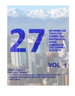 27 INFORMES DE TASACION, SANTIAGO DE CHILE, LAS CONDES 2012-2016