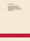 A Proof Of Syntactic Incompleteness Of The Second-Order Categorical Arithmetic