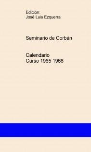 Seminario de Corbán Calendario Curso 1965 1966