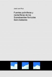 Fuentes poliníferas y nectaríferas de los Scarabaeidae florícolas íbero-baleares