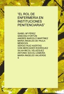 """""""EL ROL DE ENFERMERIA EN INSTITUCIONES PENITENCIARIAS"""""""