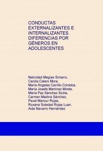 CONDUCTAS EXTERNALIZANTES E INTERNALIZANTES. DIFERENCIAS POR GÉNEROS EN ADOLESCENTES