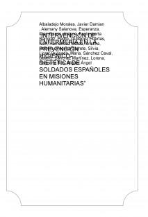 """""""INTERVENCIÓN DE ENFERMERÍA EN LA PREVENCIÓN HIGIÉNICO- DIETÉTICA DE SOLDADOS ESPAÑOLES EN MISIONES HUMANITARIAS"""""""