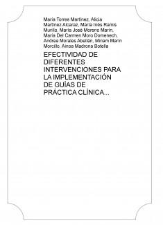 EFECTIVIDAD DE DIFERENTES INTERVENCIONES PARA LA IMPLEMENTACIÓN DE GUÍAS DE PRÁCTICA CLÍNICA