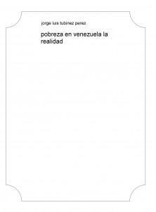 pobreza en venezuela la realidad