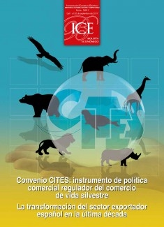 Boletín Económico. Información Comercial Española (ICE). Núm. 3091. Convenio CITES: instrumento de política comercial regulador del comercio de vida silvestre. La transformación del sector exportador español en la última década
