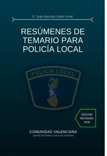 RESÚMENES DE TEMARIO PARA POLICÍA LOCAL