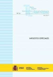 """TEXTO LEGAL Nº 13/2017 """"IMPUESTOS ESPECIALES"""""""