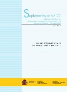 """SUPLEMENTO AL Nº 27/2017 """"PRESUPUESTOS GENERALES DEL ESTADO PARA EL AÑO 2017"""""""