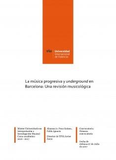 La música progresiva y underground en Barcelona: Una revisión musicológica