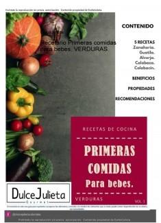 Recetario Primeras comidas para bebes, VERDURAS.
