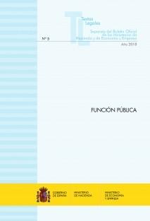 """TEXTO LEGAL Nº 5/2018 """"FUNCIÓN PÚBLICA"""""""