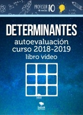 Libro DETERMINANTES autoevaluación curso 2019-2020 libro vídeo, autor Sergio Barrio