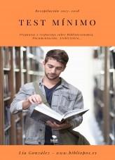Libro Test mínimo. Recopilación 2017-2018, autor Lía González