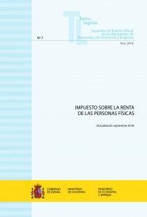"""TEXTO LEGAL Nº 7/2018 """"IMPUESTO SOBRE LA RENTA DE LAS PERSONAS FÍSICAS"""""""