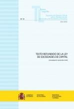 """Libro TEXTO LEGAL Nº 10/2018 """"TEXTO REFUNDIDO DE LA LEY DE SOCIEDADES DE CAPITAL"""", autor Libros del Ministerio de Hacienda"""