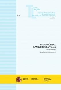 "TEXTO LEGAL Nº 11/2018 ""PREVENCIÓN DEL BLANQUEO DE CAPITALES"""