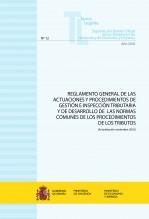 """Libro TEXTO LEGAL Nº 12/2018 """"REGLAMENTO GENERAL DE LAS ACTUACIONES Y PROCEDIMIENTOS DE GESTIÓN E INSPECCIÓN TRIBUTARIA Y DE DESARROLLO DE LAS NORMAS COMUNES DE LOS PROCEDIMIENTOS DE LOS TRIBUTOS"""", autor Libros del Ministerio de Hacienda"""