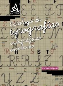 Catálogo de tipografías caligráficas escolares